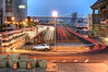 U Taffic Trails (Tony Shi Photos) Tags: park nyc newyorkcity longexposure ny ferry lights downtown traffic manhattan battery trails tunnel terminal uturn fdrdrive hdr lowermanhattan statenislandferry nuevayork traffictrails southferry 纽约 紐約 نيويورك nikond700 ньюйорк 뉴욕주 tonyshi ניויאָרק