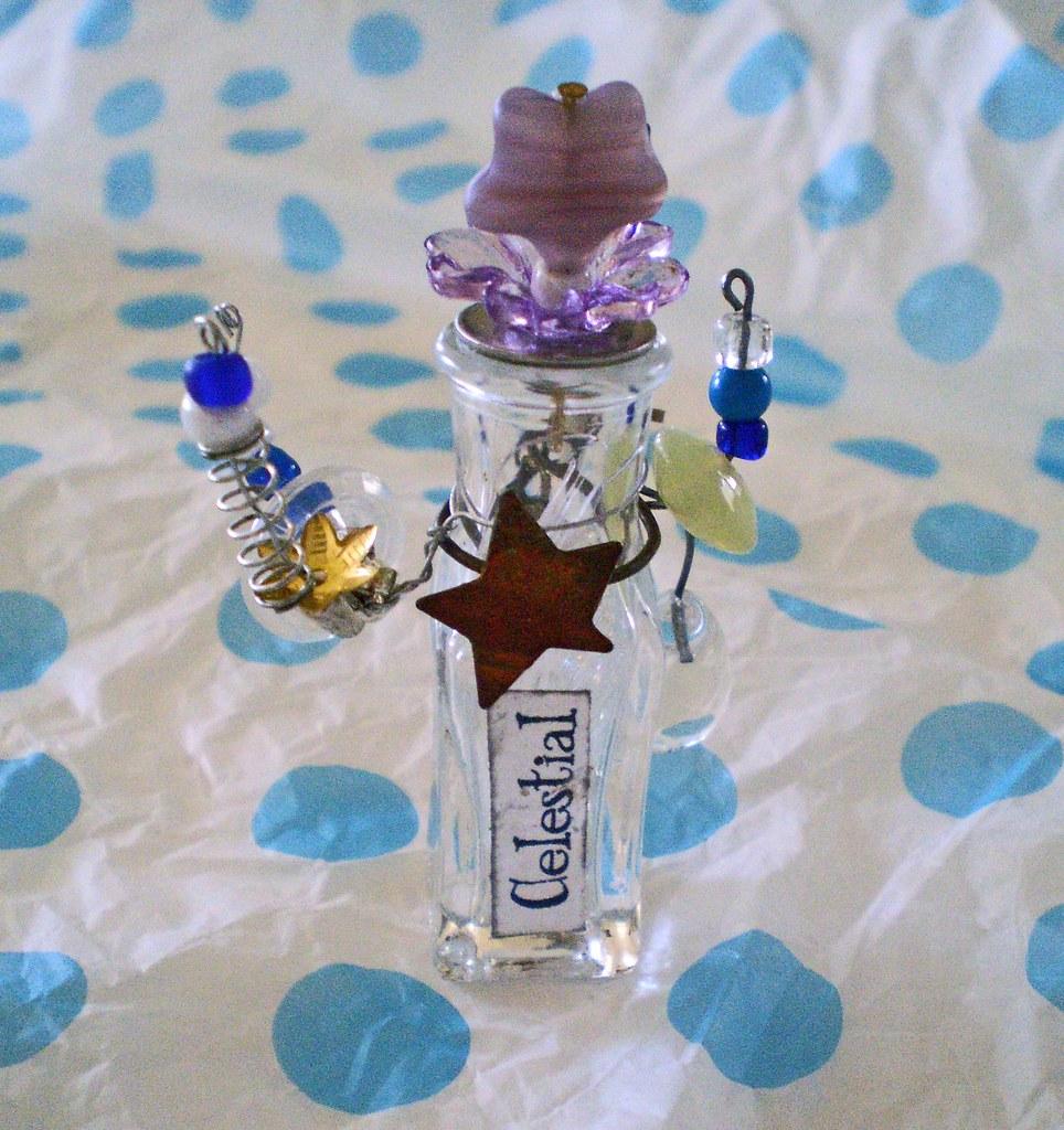CELESTIAL Miniature Fantasy Assemblage Bottle