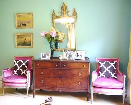 fullhousepinkchairs - velvet