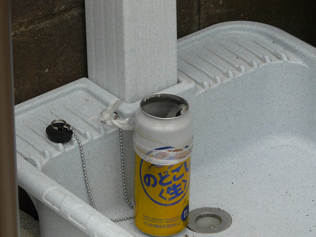Outdoor Smoko Spot in Can and Plastic Twine