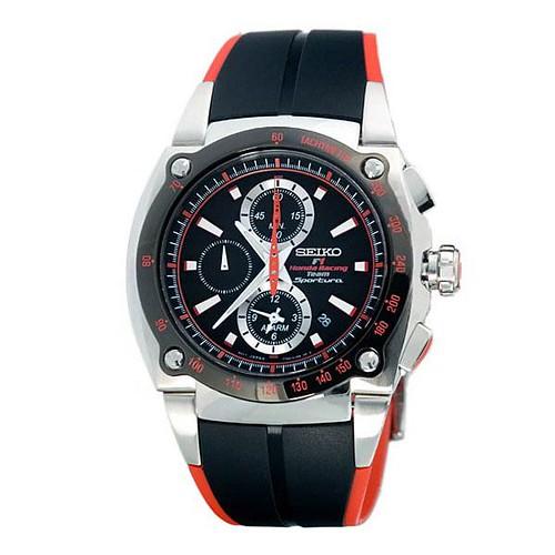 relógio preto e vermelho esportivo