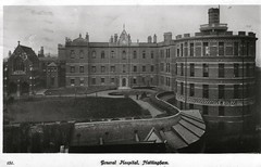 (the old) General Hospital, Nottingham (Brownie Bear) Tags: old nottingham uk england hospital closed general britain postcard united great kingdom gb