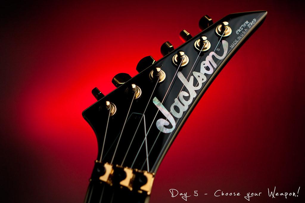 Project 365, Day 5, 005/365, Jackson Guitars, Jackson Custom Shop Rhoads, Jackson Rhoads, Strobist, pocketwizards