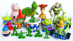 Re-ment Toy Story Characters (karenisme08) Tags: birthday food game cake jesse cakestand buzz toy soldier army pig candy dinosaur toystory alien balloon woody plate fork sandwich birthdayparty pizza story card ferriswheel buffet rement photoframe