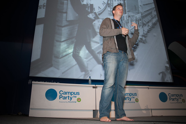 Peter Sunde en Campus Party México 2010