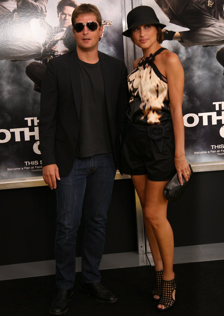 Rob Thomas and wife Marisol Thomas arrive at The Other Guys Movie Premiere