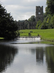 Fountains Abbey & Studley Royal Water Gardens - the temple reflected in the water gardens (Tim Laughton) Tags: abbey ruins yorkshire royal national trust fountains studley fountainsabbeystudleyroyal