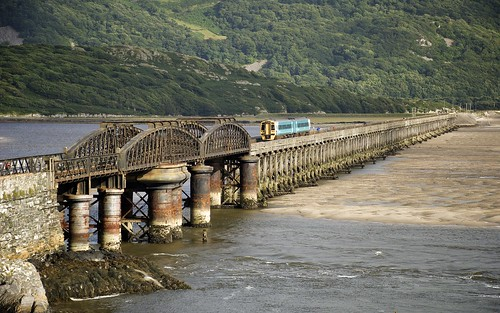 Barmouth Bridge And Train