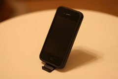 ホール付ミニミニスタンド for iPhone4 ブラック
