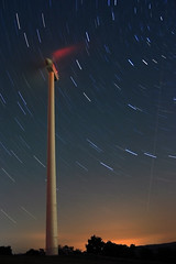 startrails (wunderskatz) Tags: blue sky plant industry windmill night stars shower energy long exposure hungary industrial power wind trails clean trail friendly environment rotation safe protection eco meteor renewable windgenerator perseids windengine szapar
