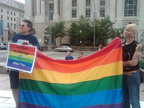 Equality flag in Washington, DC