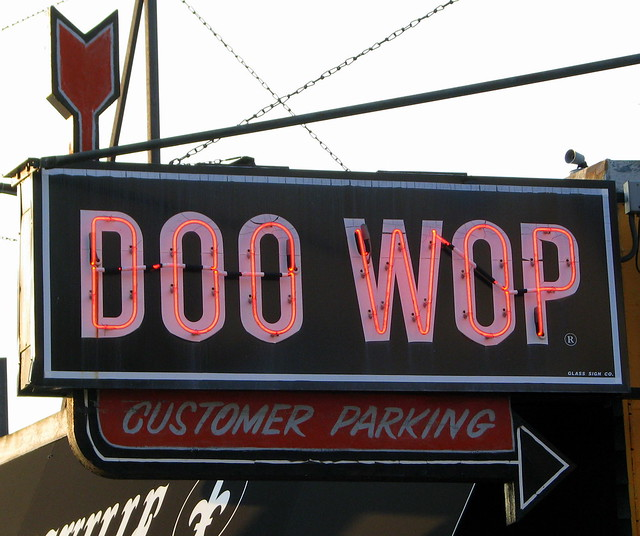 Doo Wop neon sign