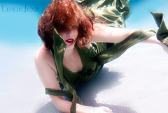 vanity lungs (leslie.june) Tags: light sunlight water pool girl movement agua underwater dress florida floating naturallight redhead mermaid greendress flowy lesliejunephotography lesliejunecom