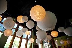 Paper lanterns in downtown Salt Lake City, UT (bgolub) Tags: sushi restaurant utah saltlakecity paperlanterns