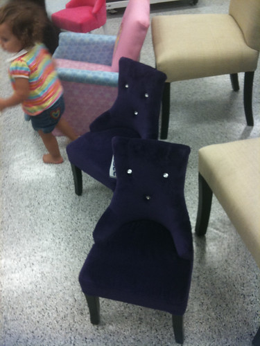 Kids glam chairs in purple