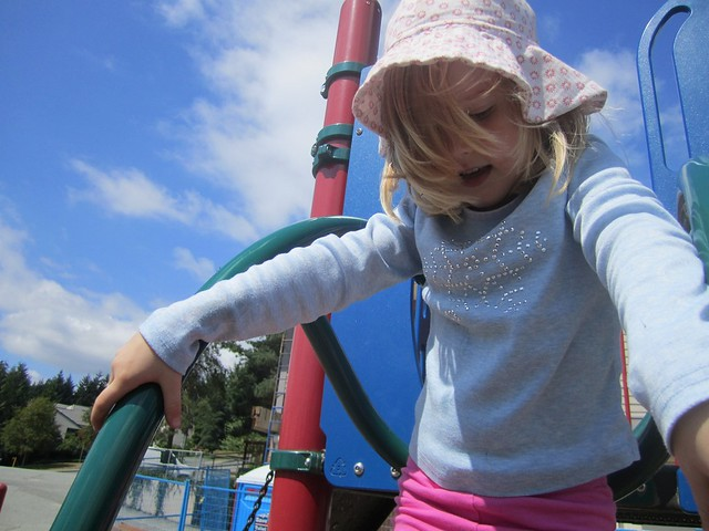 Hannah on the playground