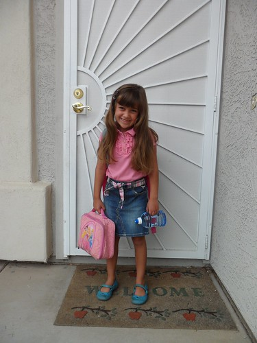 Kimberly's fist day of 1st grade