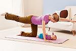 bebek ve anne için spor hareketleri