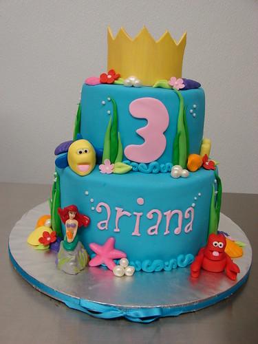 Ariana's Little Mermaid Cake