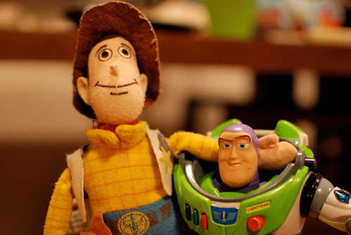 my girl's woody & buzz lightyear