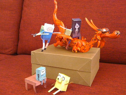 This Week You Can Download Awesome Marceline Paper Foldable At The Cartoon Network Adventure Time Site In My Papercraft Scene Shows Up On A