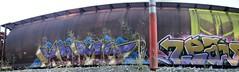 Kamit Leav (Grimey  Trains) Tags: canada train graffiti letter straight burner hopper freight leav tbv wheatie kamit