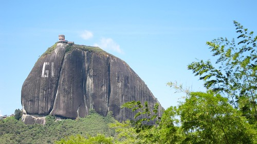 "El Penol - at one point, there was an effort to paint ""Guatape"" across the face of the monolith."