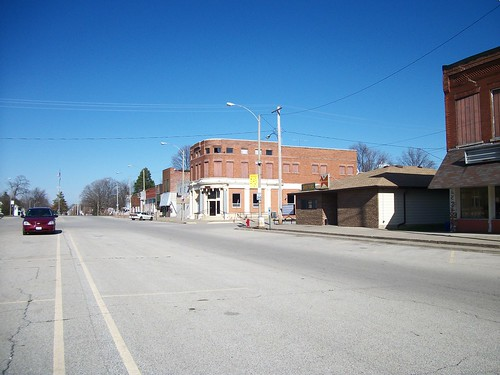 Looking up main street.