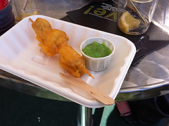 Super crispy battered haddock and mushy peas at Edinburgh Foodies Festival 2010