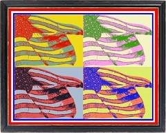 American Flags -  graphic by jeannerene