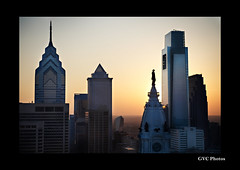 il a del i a (gvcphotos) Tags: sunset philadelphia skyline skyscraper comcast centercity pa penn philly libertyone williampenn comcastbuilding