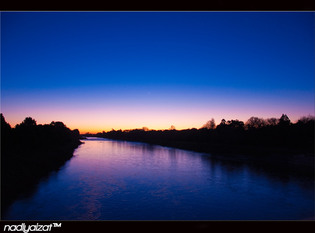Manawatu River during Sunset
