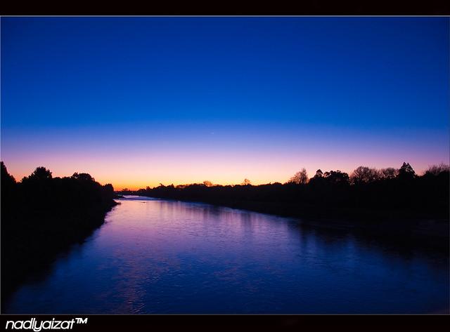 Manawatu River during Sunset