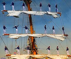 """Crew tall ship """"KRI Dewaruci"""" - Indonesia by Pjotre7"""