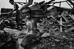 Ulingan, Tondo - The life of Rickson, a Charcoal boy (Mio Cade) Tags: poverty wood boy mountain work kid factory child philippines documentary social charcoal manila labour smoky heavy reportage tondo rickson ulingan childrenbestphoto