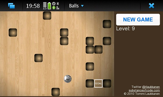 My Labyrinth game for Nokia N900