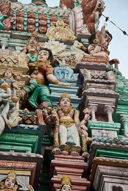 Indian temple in Little India, Penang