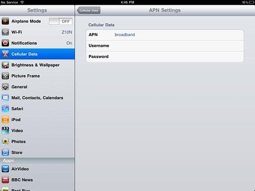 APN settings