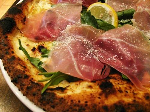 Prosciutto Arugula Pizza Bianca @ Famoso Neapolitan Pizzeria