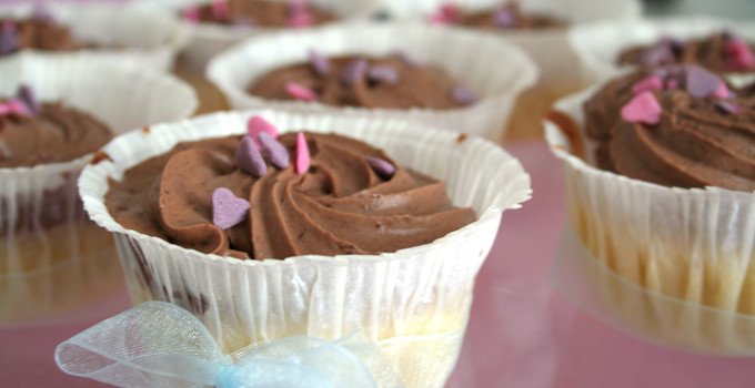 Dumlecupcakes med chokladfluff