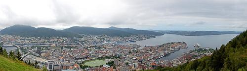 Panoramic view of Bergen