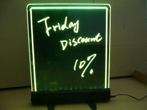 led stand table top led writing board