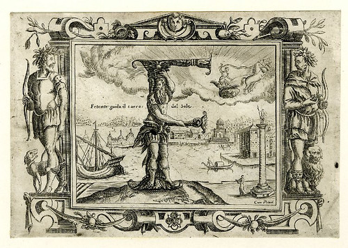 006-Letra F-Grotesque alphabet in mythological landscapes-© The Trustees of the British Museum