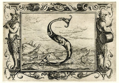 017-Letra S-Grotesque alphabet in mythological landscapes-© The Trustees of the British Museum