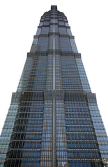 Jin Mao Tower 1 (David OMalley) Tags: china city urban skyline architecture modern shanghai future   pudong hitech worldfinancialcenter futuristic jinmaotower orientalpearltower futurist  megacity    shanghaiworldfinancialcenter