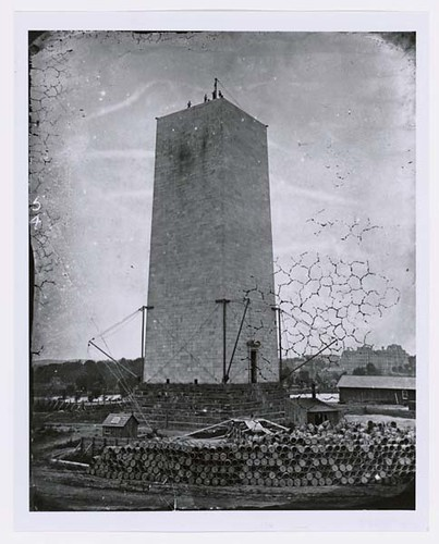Photograph of the Washington Monument Foundation Construction in ...
