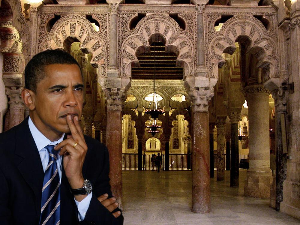 Barack Obama en la Mezquita de Córdoba