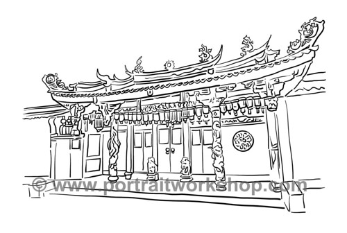 Chinese temple amended