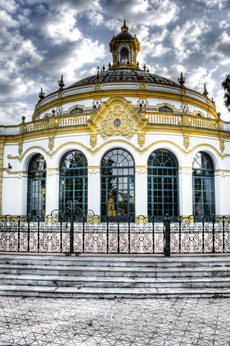 Lope de Vega theatre. Facade. Seville. Teatro lope de vega. Fachada. Sevilla.