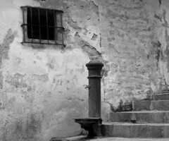 Once upon a time (franco indaco) Tags: old italy white black window water fountain town finestra belvedere acqua fontana luce marittimo